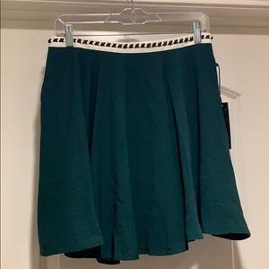 NWT Blush Noir Green Skater Skirt Size Medium